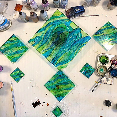 Sun-catcher With Alcohol Inks
