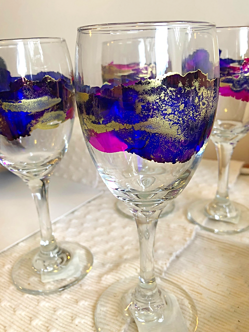 Vibrant Wine Glasses