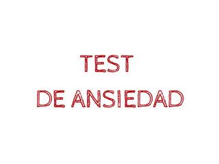 Test de ansiedad