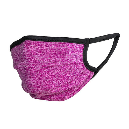 Adults Pink Spacedye BB Facemask - 5 Pack