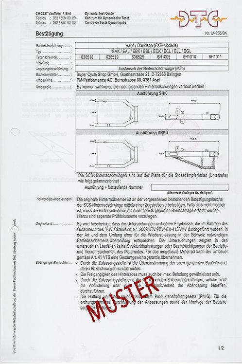 Austausch der Hinterradschwinge FXR