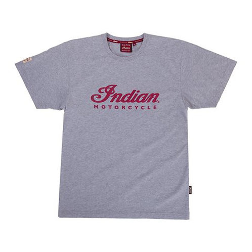 Men's Grey marl Logo Tee
