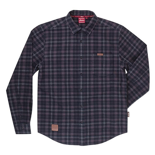 Mens Black Plaid Shirt