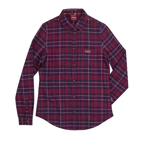 Womens LS Red Plaid Shirt