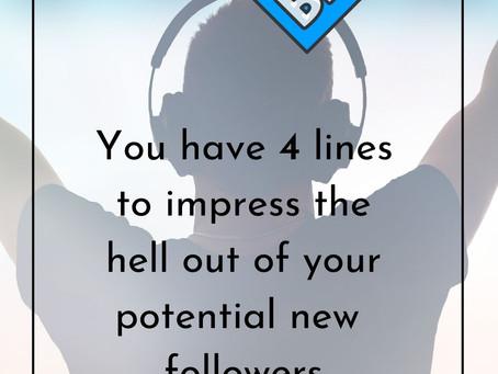 OPTIMISING YOUR INSTAGRAM BIO IS VERY IMPORTANT.