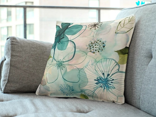 Madhu homes? Set of 2 Floral Throw Hand Made Cushion Cover
