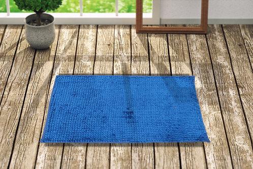 Popcorn 24X16 Inch Anti skid Bath Mat(Sky blue)