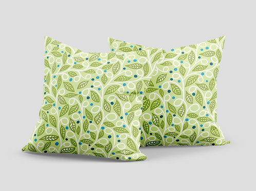 Madhu homes Set of 2 Floral Throw Hand Made Cushion Cover