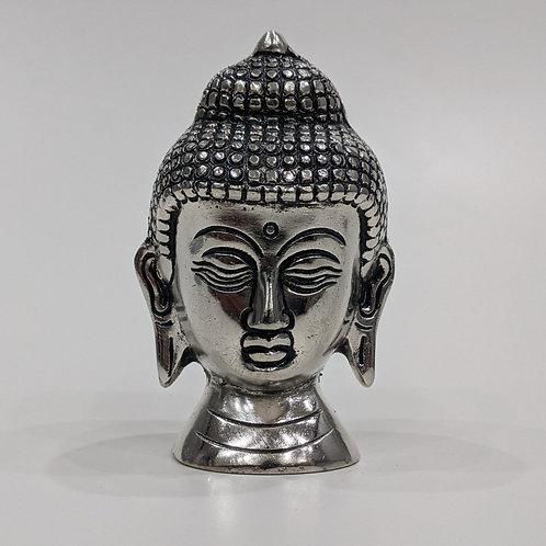 Silver Aluminium Antique Buddha Idol