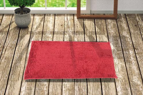 Popcorn 24X16 Inch Anti skid Bath Mat(Rose red)