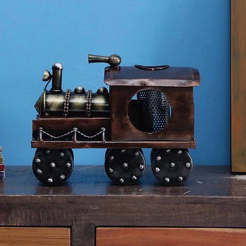 Madhu Homes Cooper color Steam Engine Miniature Figurine Decorative Showpiece