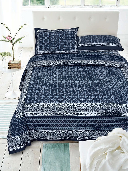Cotton 200 TC Ethnic Double bed sheet king size