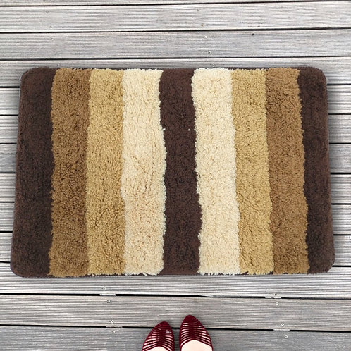 Cotton Abstract Pattern 24x16 Inch Anti Skid Bath Mat
