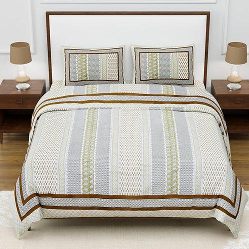 Cotton 200 TC Jaipuri Double bed sheet king size