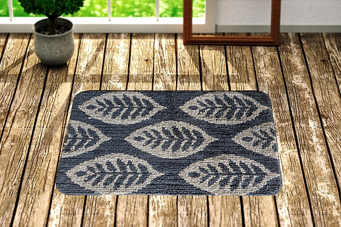 Cotton Leaf Pattern 24x16 Inch Anti Skid Bath Mat