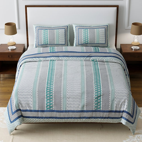 Cotton 200 TC Double bed sheet king size