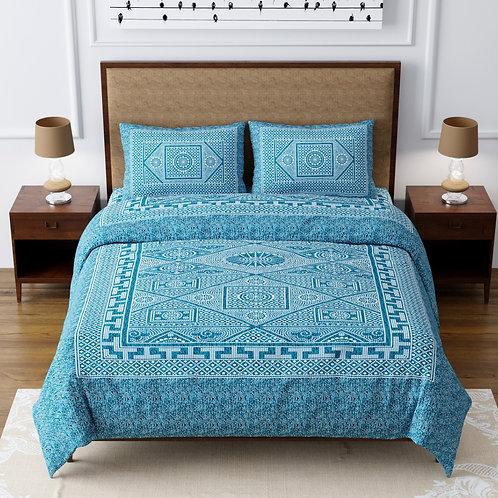 Cotton 200 TC Motifs Double bed sheet king size