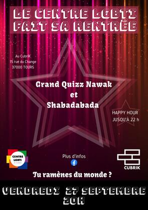 Soirée de rentrée du Centre LGBTI de Touraine - 27 septembre