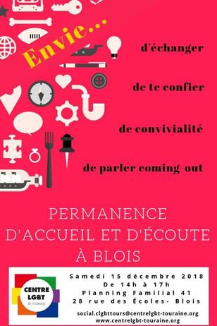 Samedi 15 décembre : PAE à Blois