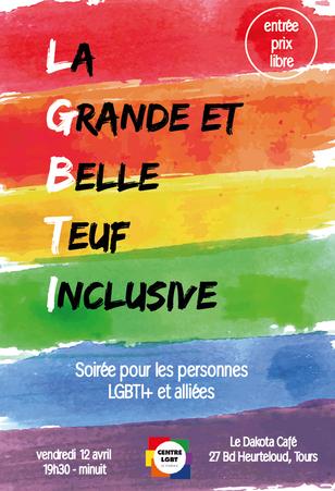 La Grande et Belle Teuf Inclusive - Soirée LGBTI+