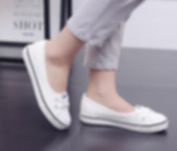 Image of a lady walking in comfortable shoes
