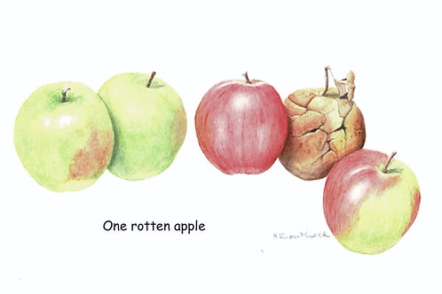 Note Card: One rotten apple