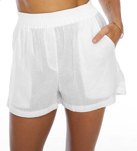 White boyfriend shorts / 100% cotton