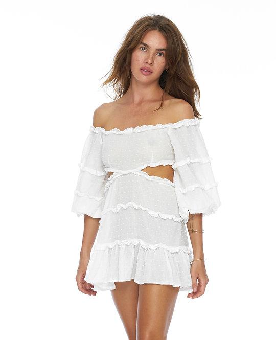 Белое Платье Brigitte / 100%  органический хлопок с шитьем
