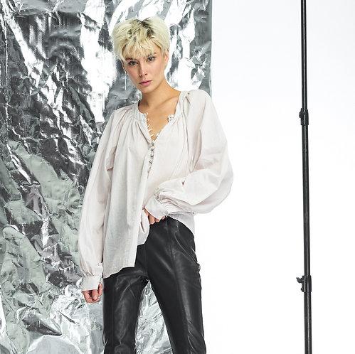 Блуза с широким рукавом / цвет натуральный