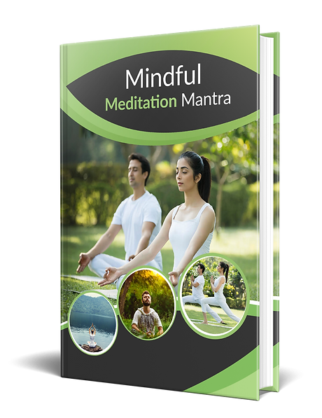 Mindful Meditation Mantra E-Book Design.
