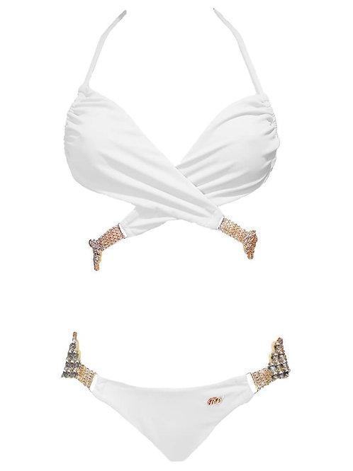 Gina Impressive Top & Skimpy Bottom - White