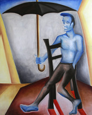 L'homme au parapluie