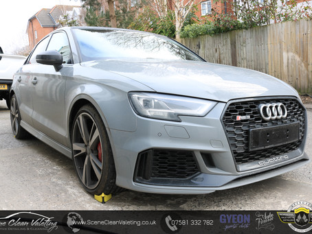 Audi RS3 Saloon - Enhancement Detail, PPF & Gyeon Quartz Q2DuraFlex
