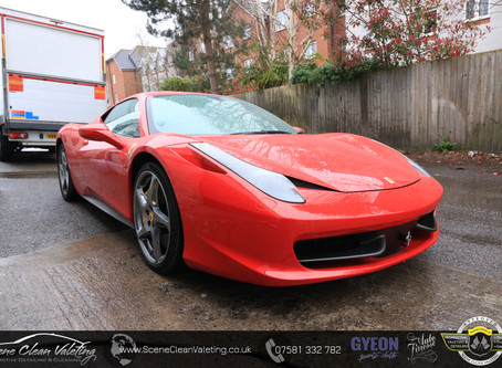 Ferrari 458 Italia - Enhancement Detail & Gyeon All Surface Protection