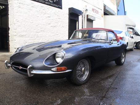 Jaguar E-Type - Single Stage Enhancement & Engine Bay Detail