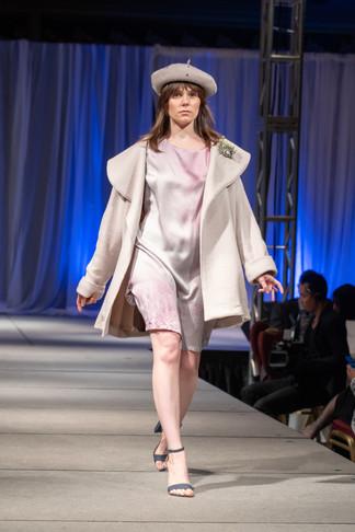 Cassandra wearing Jessica Reddit Designs for Little Black Dress Gala