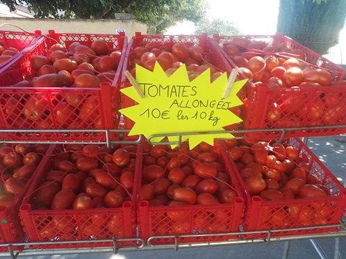 lot de 10 kg de tomates Roma