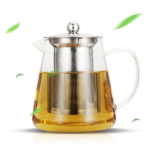 "32oz. High Borosilicate Glass ""Beaker"" Style Tea Pot (Stovetop Safe)"
