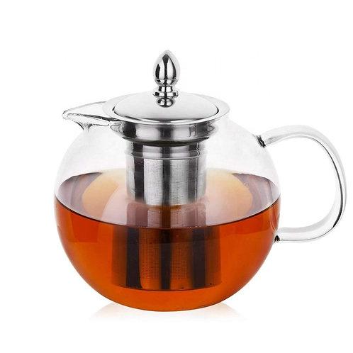 "27 oz. High Borosilicate Glass ""Classic"" Style Tea Pot (Stovetop Safe)"