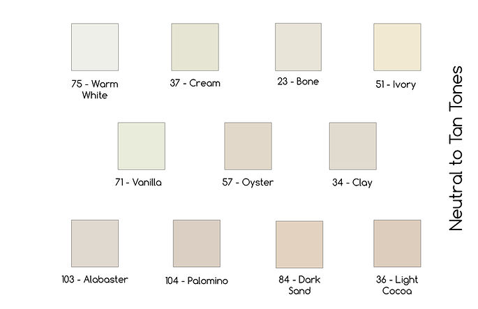 Fabric Color Neutral to Tan
