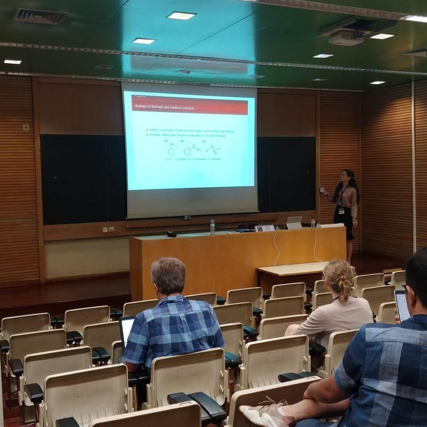 Alina giving a talk