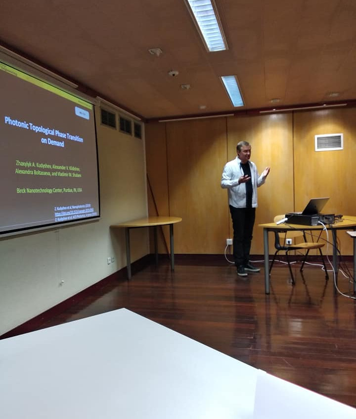 Shalaev giving a talk