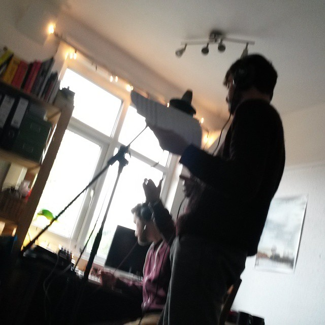 Instagram - Recording backing vocals for @PeervanSee with Ben Haywards. Staff no