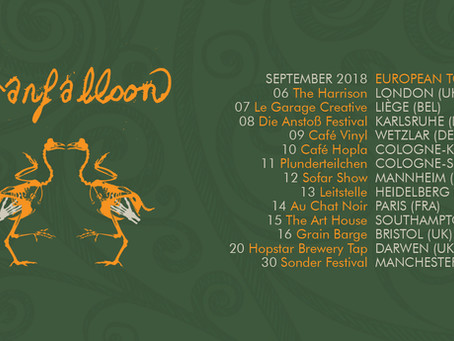 Tour Dates in Germany, Belgium, France + UK