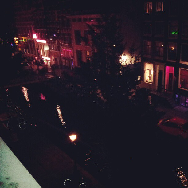 Instagram - We have arrived in Amsterdam! Note the red AND blue lights in the bo