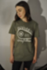 """""""Natalie McCool"""" models t-shirt (tee) from Manchester Folktronica band Granfalloon. Clothing design by """"Gideon Conn"""""""