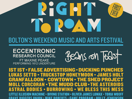 We're playing Right To Roam Festival