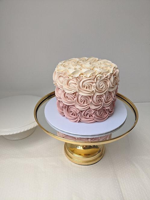 Customise the Colour - Ombré Rosette/Stripe Cake