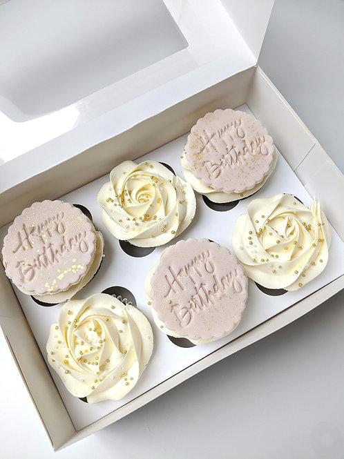 Customised Embossed Sprinkle Cupcakes