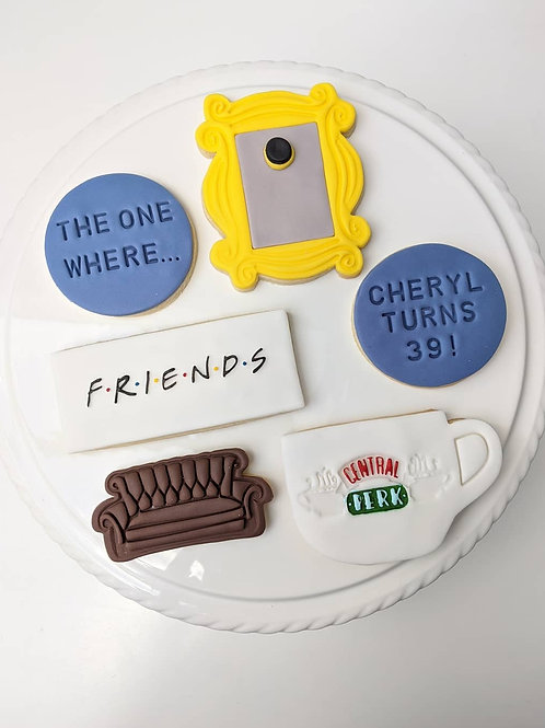 """The One Where..."" Personalised Cookie Set"